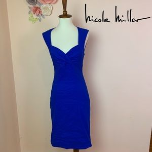 New! Nicole Miller Sofia Sheath Metallic Dress